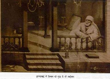 Sai Baba in Masjid or Dwarkamai